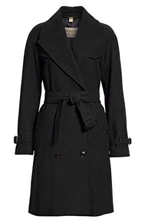 960a82109e9f01 Image Unavailable. Image not available for. Color: BURBERRY Cranston Wool  Blend Belted Double Breasted Trench Coat ...