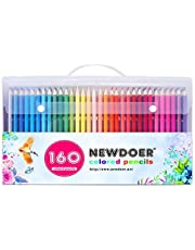 Newdoer 160 Ultimate Coloured Pencil Set,The Best Colouring Pencils for Artists, Comics, illustration, interior designer,Student,Art and Adult Colouring lovers as Chirstmas Gift