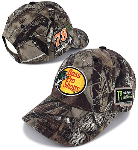 Checkered Flag Martin Truex Jr 2017 Monster Energy NASCAR Cup Series Champion TrueTimber Camo Hat - Nascar Camouflage Hat