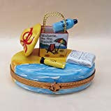 Limoges French Authentic Porcelain Welcome to the Beach Box