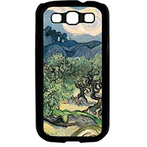 Vincent van Gogh oil painting The Olive Trees Samsung Galaxy S3 SIII I9300 TPU Soft Black or White case (Black)