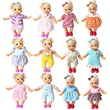BOBO Clothes Set of 12 for 12-14-16 Inch Alive Lovely Baby Doll Clothes Dress Outfits Costumes Dolly Pretty Doll Cloth Handma