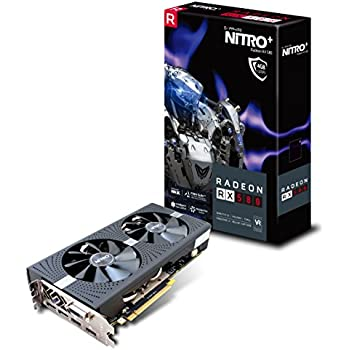 Sapphire 11265-07-20G Radeon NITRO+ RX 580 4GB GDDR5 DUAL HDMI / DVI-D / DUAL DP with backplate (UEFI) PCI-E Graphics Card