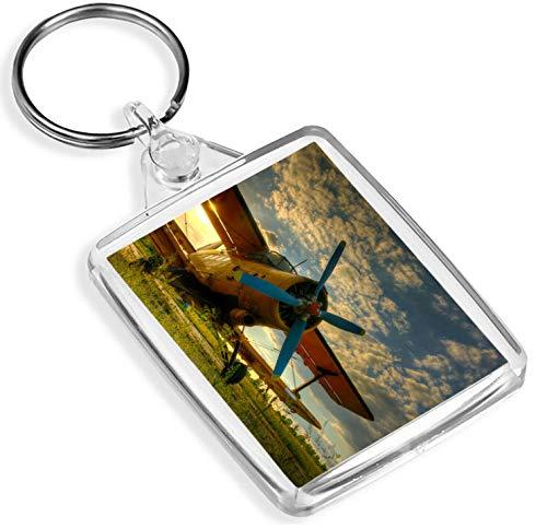 Tiger Moth Plane Keyring Airplane Biplane Pilot Flying Cool Keyring Gift #8846