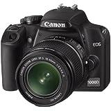 Canon EOS 1000D SLR-Digitalkamera (10 Megapixel, Live-View) Kit inkl. EF-S 18-55mm IS