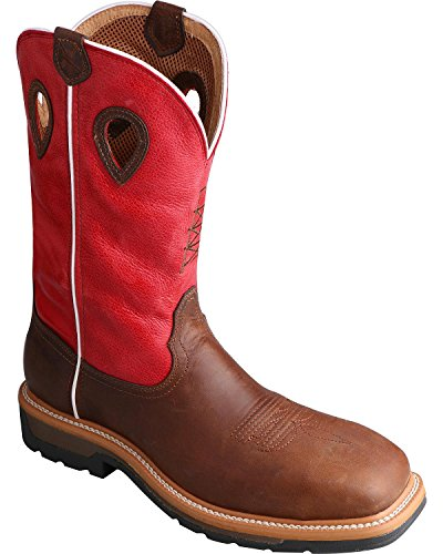 Lite Men's Toe X Twisted Work Steel Distressed Cowboy Mlcs010 Boot Onaww4