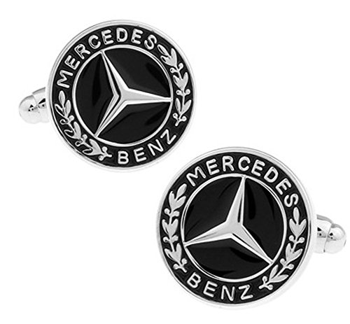 - Promotioneer Men's Mercedes-Benz Logo Symbol Fashion Shirt Cufflinks with Gift Box 10