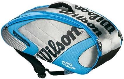 Amazon.com : Wilson K Pro Tour Six Pack Tennis Bag Silver ...