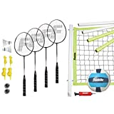 Franklin Sports Advanced Badminton and Volleyball Combo Set (Renewed)