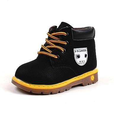 Zapatos de bebé, ASHOP Niña Niño Casuales Zapatillas del Otoño Invierno Suela Deporte Antideslizante del Zapatos Calentar Martín Botas Sneaker 0-6 Años: ...