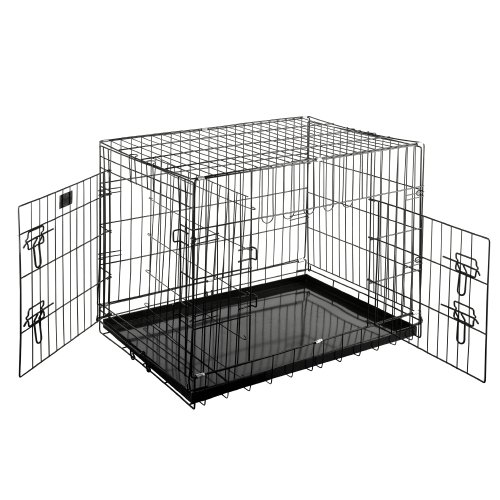Pet Trex 2201 30 Inch Dog Crate with Divider Folding Pet Cra