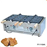 Commercial Nonstick 110V 220V Electric 6pcs Taiyaki Fish Waffle Maker Iron Machine