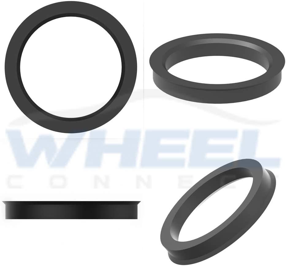 Set of 4 O.D:106mm I.D 77.8mm. WHEEL CONNECT Hub Centric Rings ABS Plastic Hubrings