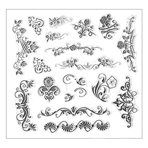 VESNIBA Stencil New Silicone Butterfly Flower Embossing Folder Template DIY Card Scrapbooking Decor