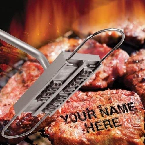 Archi BBQ Meat Branding Iron with Changeable Letters and a Handy Draw- Great for Branding Steaks Burgers Chicken