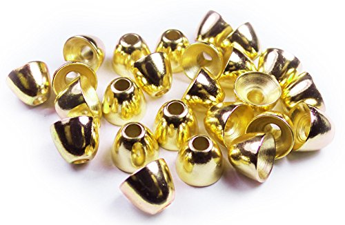 Fly Tying Beads - Brass Cone Head (Gold, 4.8mm) -