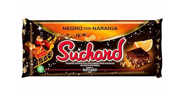 Suchard - Turrón Chocolate Negro con Naranja, 260 g: Amazon.es: Alimentación y bebidas