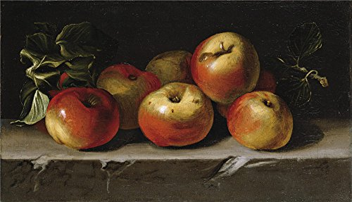 Oil Painting 'Espinosa Juan De Manzanas Segundo Tercio Del 17 Century ' Printing On Perfect Effect Canvas , 8 X 14 Inch / 20 X 35 Cm ,the Best Home (Manzana Apple Halloween)