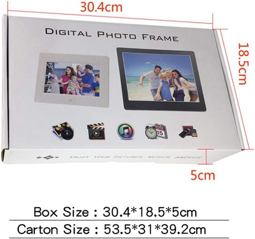 Dailyfun 8 Inch Digital Photo Frame 1024 X 768 IPS Display Electronic Picture Frame,4:3 IPS LED Display Photo//Video Player,Built-in 32GB Storage Support Alarm//Clock//Calendar//Remote Control