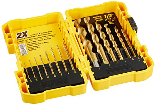 Dewalt DW1341 14 Pc Titanium Speed Tip Drill Bit Set