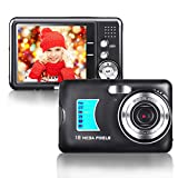 Digital Camera 2.7inch HD Mini Digital Video Camera Point and Shoot Students Digital Camera for Kids Teenagers Beginners (Black)