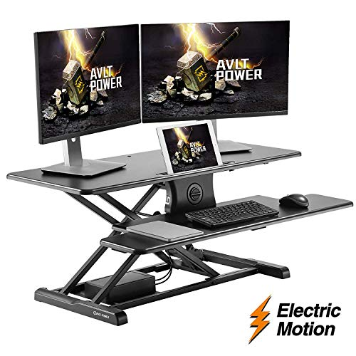 AVLT-Power Electric Standing Desk Converter - Raise up 37