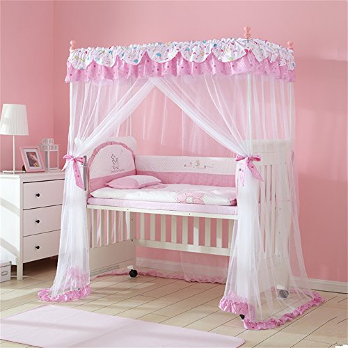 Royal- Encryption Baby Square Top Mosquito Net Children's Bed Floor Princess Style With Bracket ( Color : #2 ) by Mosquito Net