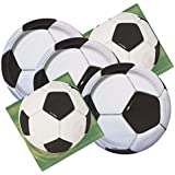 Soccer Ball Themed Birthday Party Plates & Napkins Serves 16