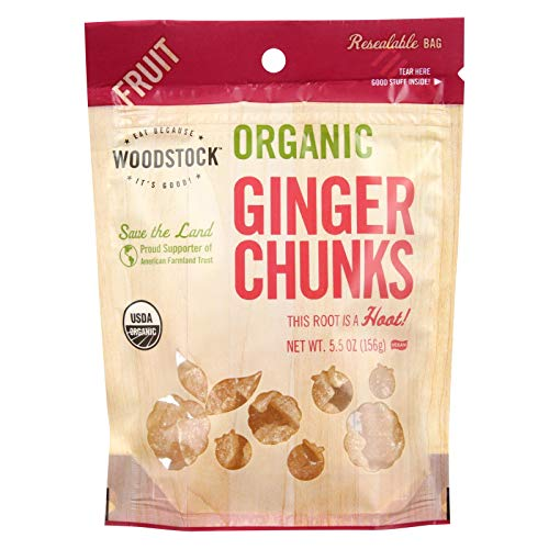 Organic Ginger Chunks 6 Ounces (Case of 8)
