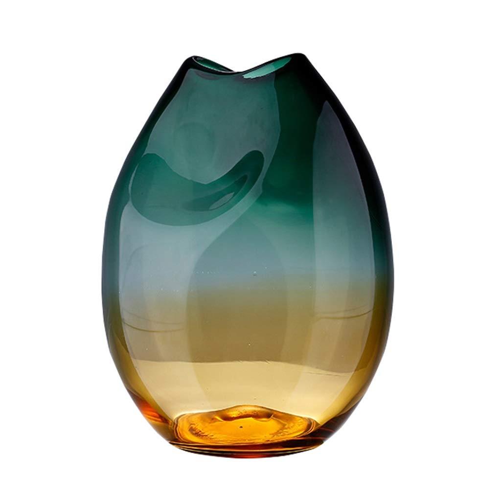 ドライフラワー水耕栽培の植物のためのガラスの花瓶ジャーモダンなシンプルな水差し、ホームオフィスの結婚式やパーティーのための卓上装飾、2サイズオプション25 cm / 32 cmグリーン (Size : L) B07SWHP9Q7  Large