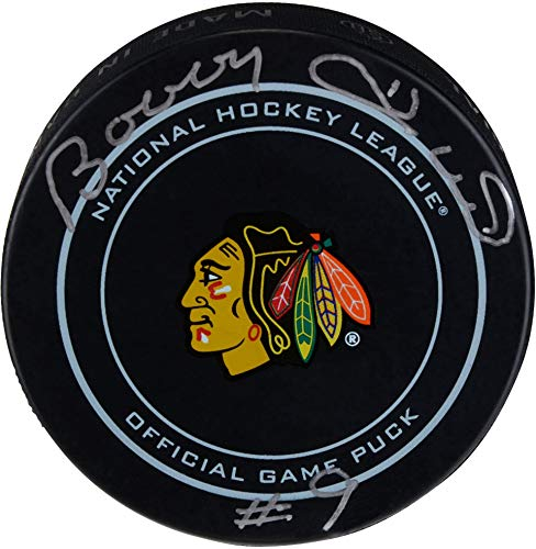 - Bobby Hull Chicago Blackhawks Autographed Official Game Puck with #9 Inscription - Fanatics Authentic Certified