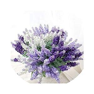 vivid-blue Decorative Artificial Fake Flower Posy Lavender Bouquet Desktop Wedding Home Decoration Silk Flower(Without vase) 14