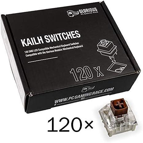 Glorious PC Gaming Race Conmutadores Kailh Box Brown para teclados GMMK - 120 Piezas