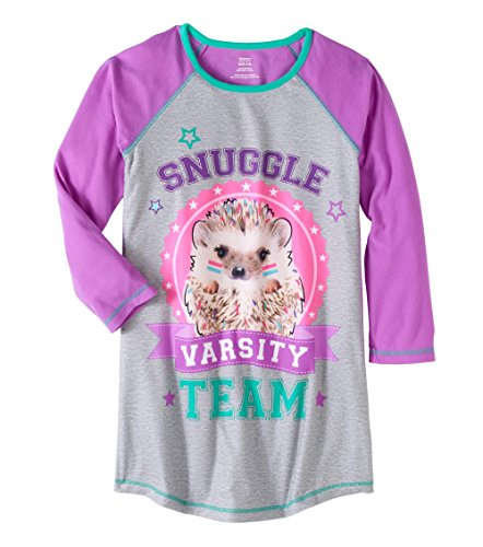 Price comparison product image Girls Graphic Pajama Long Sleeve Nightgown For Girls (Snuggle