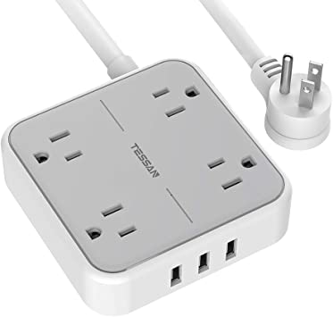 1 Item 15 ft Extension Cord Multi Outlets with 3 Ports