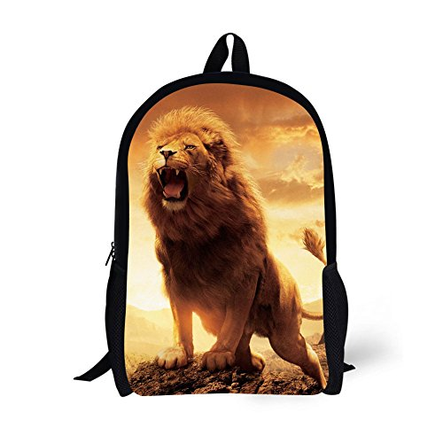 (Book Bags for Kids 17 Inch Animal School Bags (Lion) )