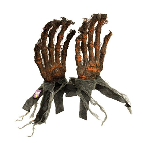 Halloween Haunters Oversized Severed Skeleton Zombie Hands Groundbreaker Prop Decoration - Rising Scary Bone Fingers