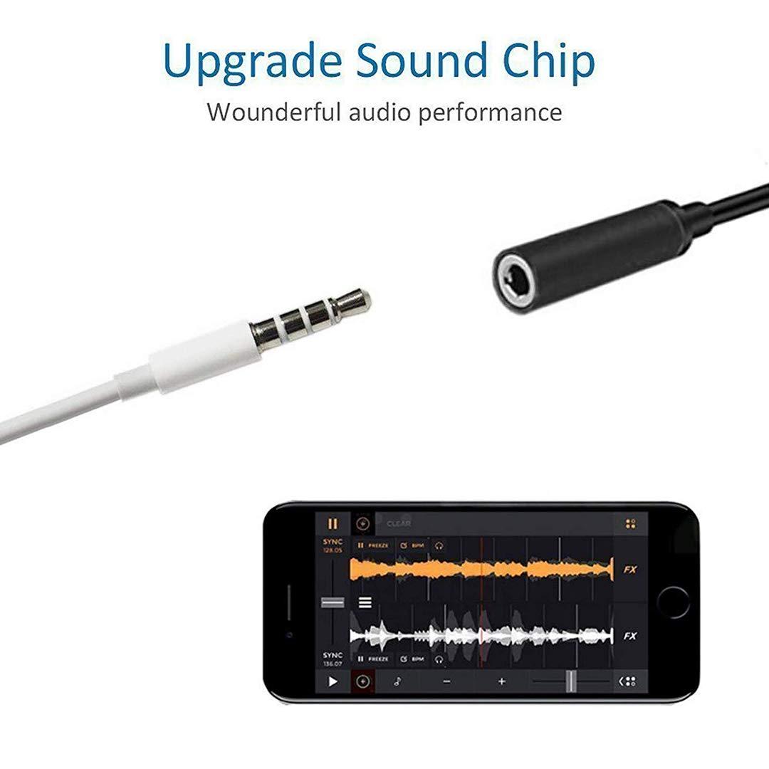 Blanco Adaptador de Auriculares para iPhone 7 Adaptador de Conector Jack de 3,5 mm Conector Audio Auxiliar Divisor de Auriculares para iPhone 7//7Plus//8//8Plus//X Cargador Cables Apoyo Todos los iOS