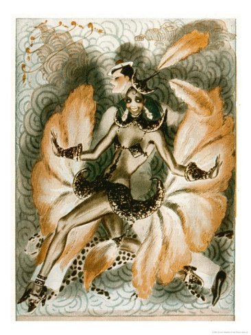 [Josephine Baker Dancer in an Elaborate and Revealing Costume Giclee Print Art (24 x 32 in)] (Revealing Costumes)