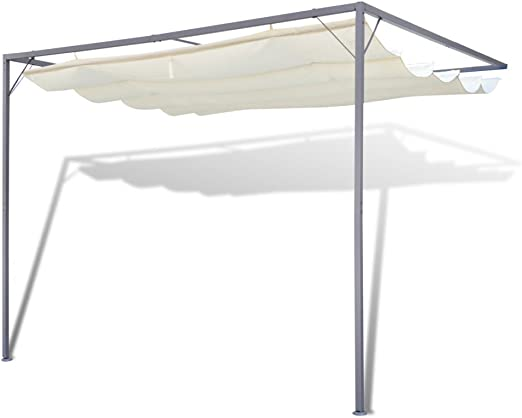 Festnight Parasol Dosel Pared Gazebo Toldo De Jardín Patio Carpa Sombrilla 3x3: Amazon.es: Hogar