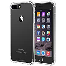iPhone 7 Plus, iPhone 8 Plus Case, iXCC iPhone 7 Plus, iPhone 8 Plus Crystal Clear Cover Case [Shock Absorption] with Soft TPU Bumper for iPhone 8 Plus, iPhone7 Plus 5.5 Inch (2016) - Clear