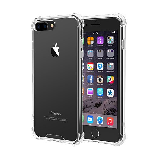 Price comparison product image iPhone 7 Plus Case, iXCC iPhone 7 Plus Crystal Clear Cover Case [Shock Absorption] with Soft TPU Bumper for iPhone7 Plus 5.5 Inch (2016) - Clear