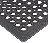 Electriduct Rubber Ring Safety Mat - 3x5 FT Anti-Slip 1/2'' Rubber Anti-Fatigue Drainage System