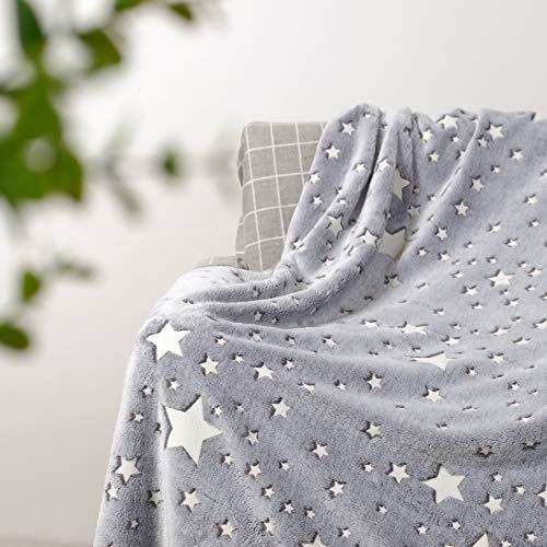 CHICHIC Glow in The Dark Blanket Luminous Kids Blankets Baby Blankets for Girls Teens Boys Kids, Super Soft Fuzzy Fluffy…