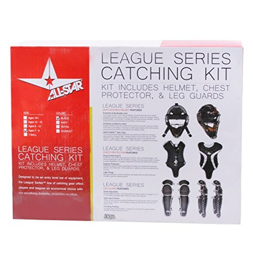 All Star Gear (All Star Youth League Series Catchers Gear Sets Ages 7-9 Black)