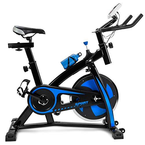 XtremepowerUS Cycling Bicycle LED Stationary Exercise Bike 22lbs Flywheel Trainer Spin Bike