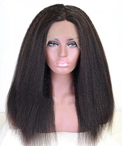 Pelucas pelucas sintéticas india rizada del pelo de pelucas sintéticas Frente de encaje