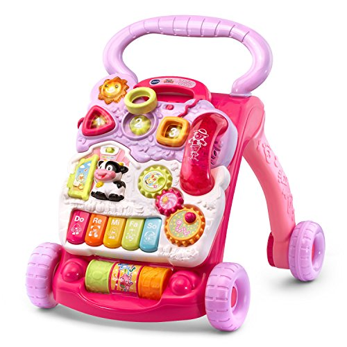 VTech Sit-to-Stand Learning Walker , Pink (Amazon Exclusive) from VTech