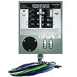 Generac 6376 30-Amp 6-10-Circuit Indoor Manual Transfer Switch for Maximum 7500-Watt Generators