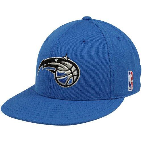 NBA adidas Orlando Magic Royal Blue Basic Logo Flat Brim Fitted Hat (7 3/4) (Basic Logo Fitted Hat)